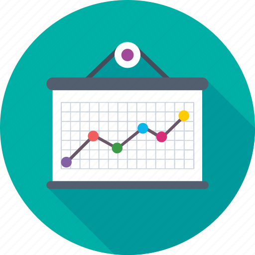 business graph, business growth, graph, growth chart, hanging graph icon