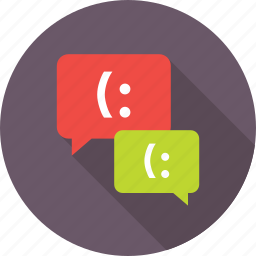 chat balloons, chat bubbles, chatting, conversation, message icon