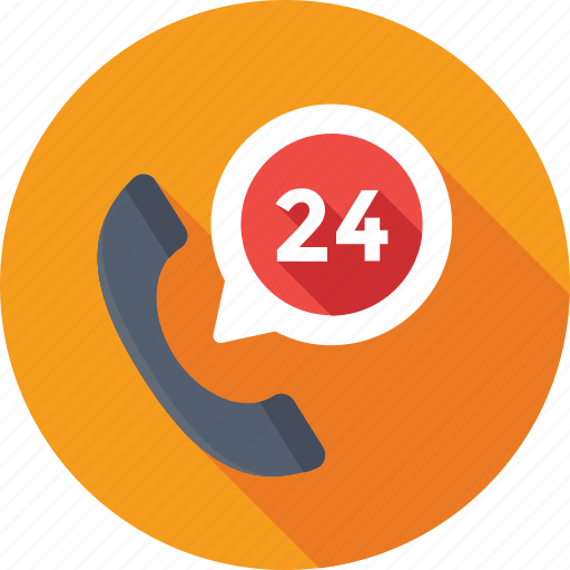 customer service, full service, full time, help line, receiver icon