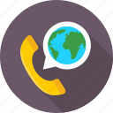 helpline, phone, phone receiver, receiver, worldwide service icon