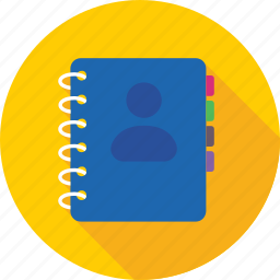 address book, biography, contacts, phone directory, phonebook icon