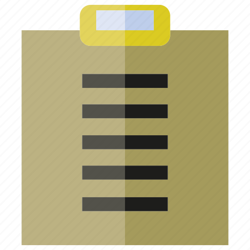 catalog, clipboard, file, folder, library, office, report icon