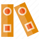book, file, folder, organized, paperwork icon