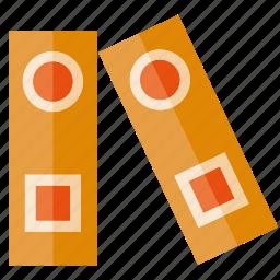 book, file, folder, organized, paperwork icon