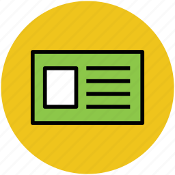 employment card, id, id badge, id card, identification, student card icon