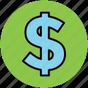 currency, dollar, economy, finance, money, sign, symbol icon