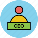 boss, ceo, chief executive officer, director, president, superintendent icon