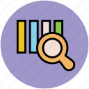 analysis, analytics, business graph, magnifying, statistic icon