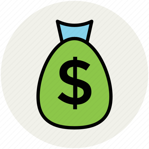 dollar, finance, investment, money pouch, money sack, saving icon
