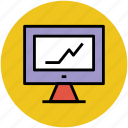 business analysis, business graph, graph, monitor screen, presentation icon
