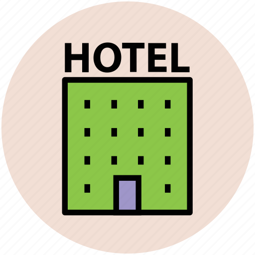 building, hotel, inn, motel, public house, real estate icon