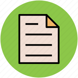 agenda, document, file, plan, report, text sheet icon