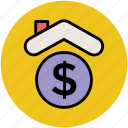 bank, dollar, finance, house, insurance icon