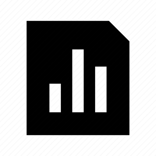 business report, business stats, graph report, official document, stock report icon