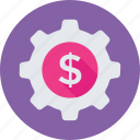 banking, cog, commerce, dollar, economy icon