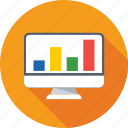 analytics, infographics, line chart, online graph, web analytics icon