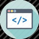 coding, development, div, html, web icon