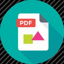 filetype, pdf document, pdf extension, pdf file, pdf format icon