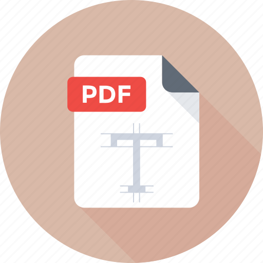 filetype, pdf document, pdf extension, pdf file, pdf format icon