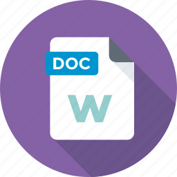 doc, doc extension, doc file, document, text icon