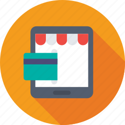 credit card, e banking, ecommerce, online banking, tablet icon