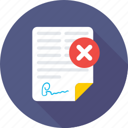 cancel documents, documents, office document, sheet, text sheet icon