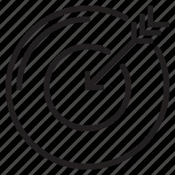 business, dartboard, search, seo, target icon