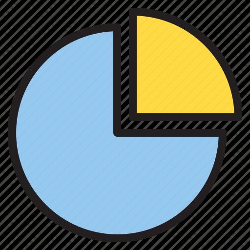 diagram, graph, growth, pie icon