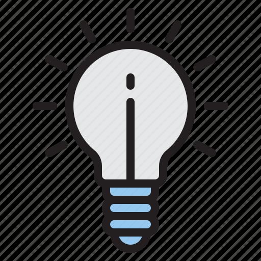 energy, idea, lamp, lightbulb icon