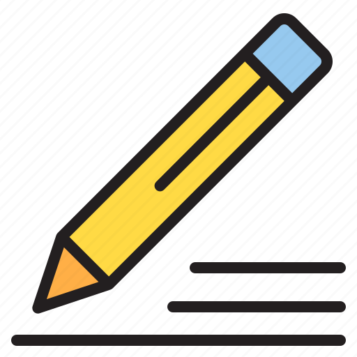 draw, pencil, school, student icon