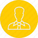 and, business, man, office icon