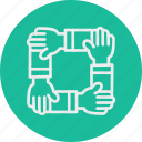 and, business, office, teamwork icon