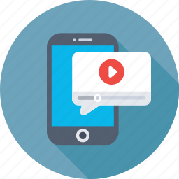 mms, mobile, mobile media, video, video message icon