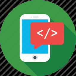 app development, development, mobile, mobile development, programming icon