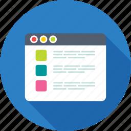 article, item, list, list item, ul, web interface icon