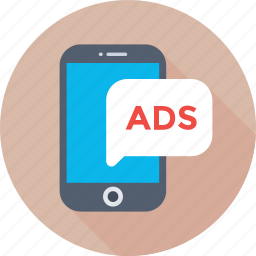 ad, advertising, marketing, mobile ad, promotion icon