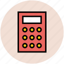 accounting, calculating device, calculation, calculator, digital calculator, math icon
