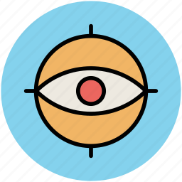 eye, find, focus, human eye, search, view, vision icon