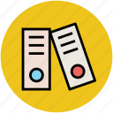archives, documents, file folders, files, files rack icon