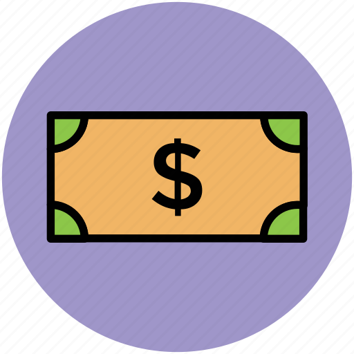 bank note, cash, currency, currency note, dollar, finance, money icon