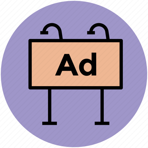 advertisement, advertising, billboard, business, commercial, media, signboard icon