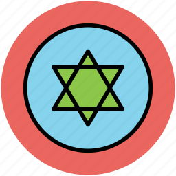 business mark, six pointed star, star of david, star shape icon