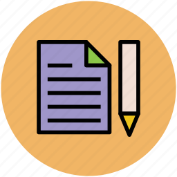 doc, document, edit, paper, pen, write, writing icon