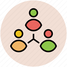 affiliation, conjunction, connected people, connection symbol, contact, link icon