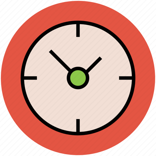clock, round clock, time, timepiece, timer, wall clock icon