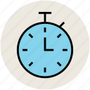 chronometer, countdown, handheld timepiece, stopwatch, watch icon