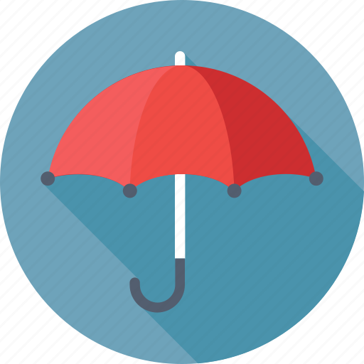 open umbrella, parasol, rain protection, sunshade, umbrella icon