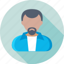 accountant, avatar, businessman, user, user avatar icon