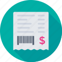 banking, bill, financial, invoice, receipt icon