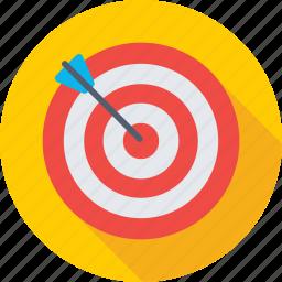 bullseye arrow, dartboard, focus, goal, target icon